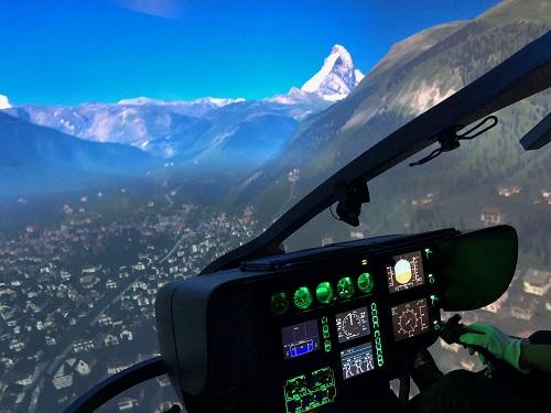 helikopterilento simulaattorissa