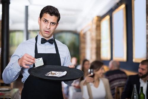 huonon palvelun illallinen